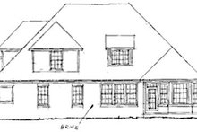 Home Plan - Traditional Exterior - Rear Elevation Plan #20-185