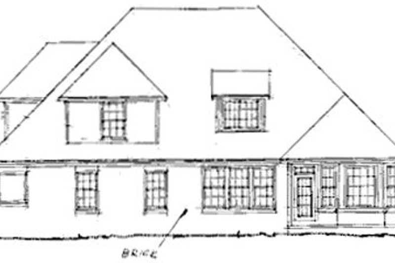 Traditional Exterior - Rear Elevation Plan #20-185 - Houseplans.com