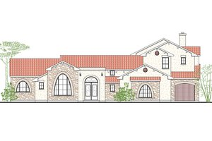 Dream House Plan - Mediterranean Exterior - Front Elevation Plan #80-212
