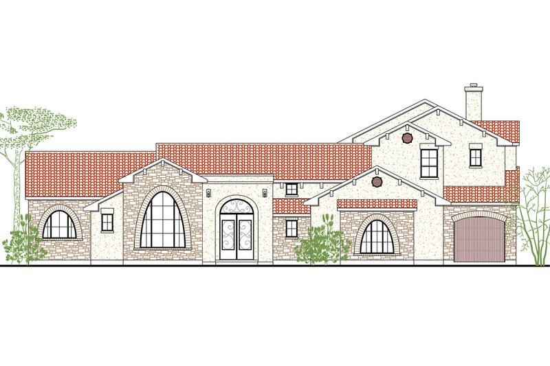 House Plan Design - Mediterranean Exterior - Front Elevation Plan #80-212