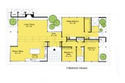 Modern Style House Plan - 3 Beds 2 Baths 2360 Sq/Ft Plan #544-3 Floor Plan - Main Floor Plan