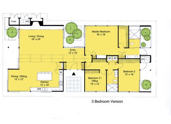 Modern Floor Plan - Main Floor Plan Plan #544-3