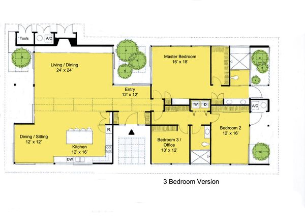 Modern Floor Plan - Main Floor Plan Plan #544-3