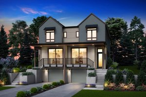 Home Plan - Contemporary Exterior - Front Elevation Plan #48-1021