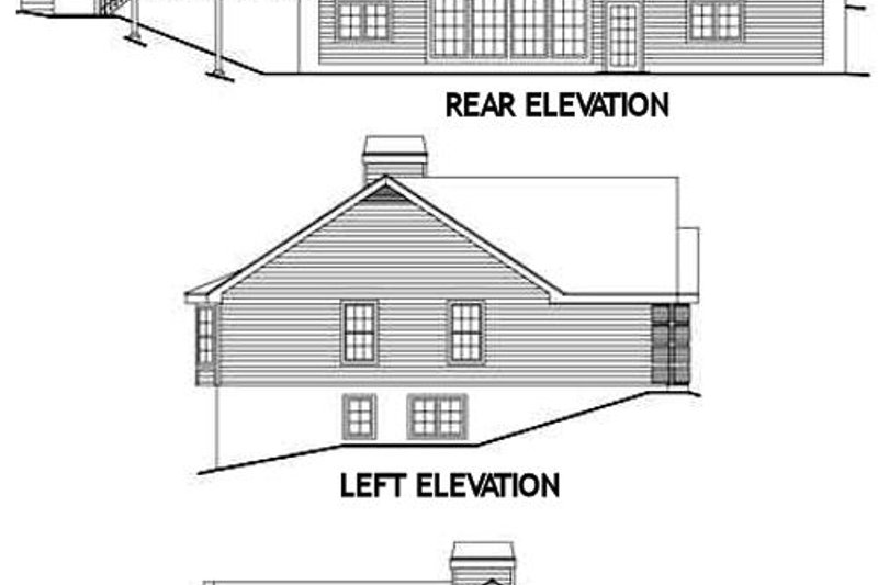 Traditional Exterior - Rear Elevation Plan #57-190 - Houseplans.com
