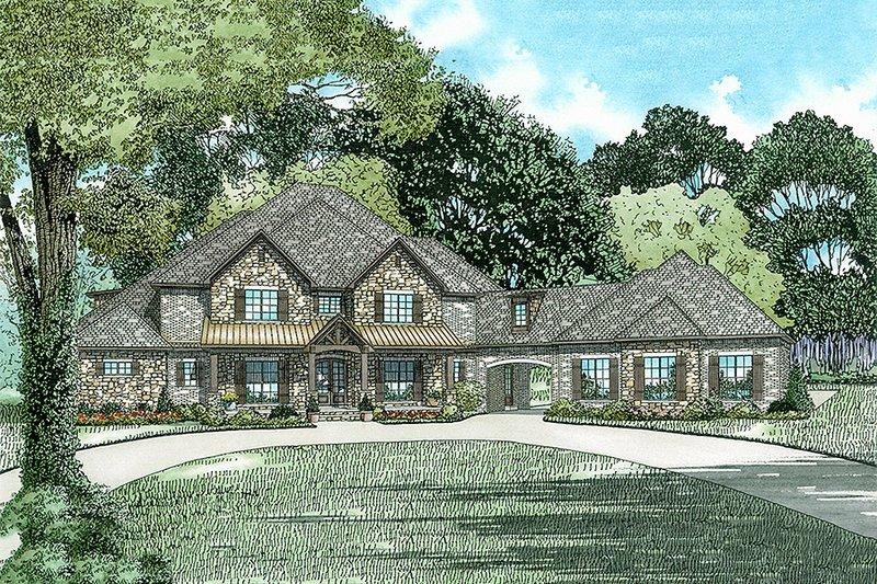 House Plan Design - European Exterior - Front Elevation Plan #17-2538