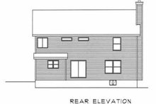 House Plan Design - Country Exterior - Rear Elevation Plan #22-208