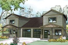 Country Exterior - Front Elevation Plan #124-1079