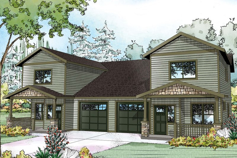 Home Plan - Country Exterior - Front Elevation Plan #124-1079