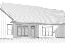 Country Exterior - Rear Elevation Plan #63-271
