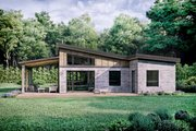Modern Style House Plan - 2 Beds 1 Baths 880 Sq/Ft Plan #924-3 Exterior - Rear Elevation