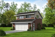 Colonial Exterior - Front Elevation Plan #932-131