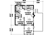 Country Style House Plan - 3 Beds 1 Baths 1036 Sq/Ft Plan #25-4746 Floor Plan - Main Floor Plan