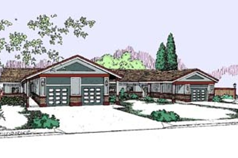 Architectural House Design - Ranch Exterior - Front Elevation Plan #60-561