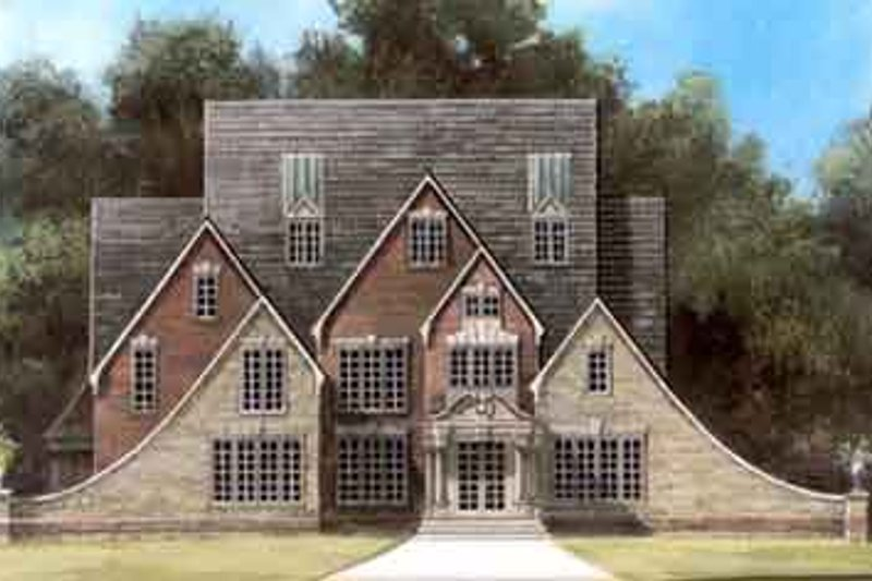Dream House Plan - Colonial Exterior - Front Elevation Plan #119-156