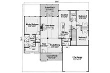 Ranch Floor Plan - Main Floor Plan Plan #437-79