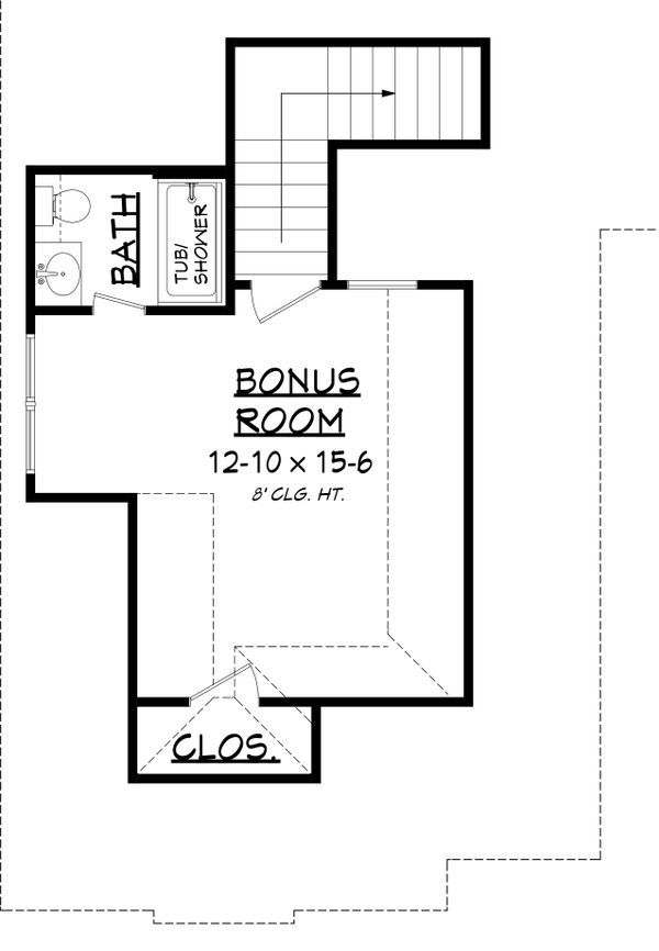 European Floor Plan - Upper Floor Plan Plan #430-136