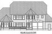 Craftsman Style House Plan - 4 Beds 3 Baths 3826 Sq/Ft Plan #413-115 Exterior - Rear Elevation