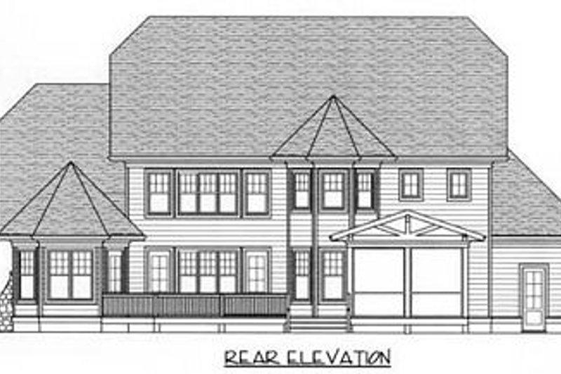 Craftsman Exterior - Rear Elevation Plan #413-115 - Houseplans.com