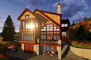 Craftsman Style House Plan - 5 Beds 3.5 Baths 4646 Sq/Ft Plan #70-1433 Exterior - Rear Elevation