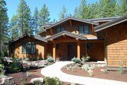 Craftsman Style House Plan - 3 Beds 2.5 Baths 3571 Sq/Ft Plan #434-26 Exterior - Front Elevation