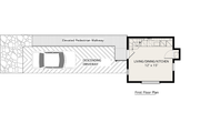 Modern Style House Plan - 2 Beds 1 Baths 798 Sq/Ft Plan #905-3 Floor Plan - Main Floor