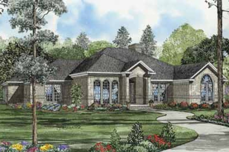 Architectural House Design - Traditional Exterior - Front Elevation Plan #17-585