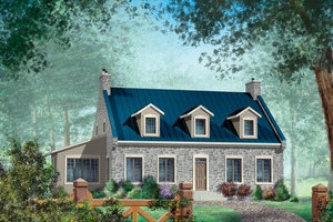 Country Exterior - Front Elevation Plan #25-4683