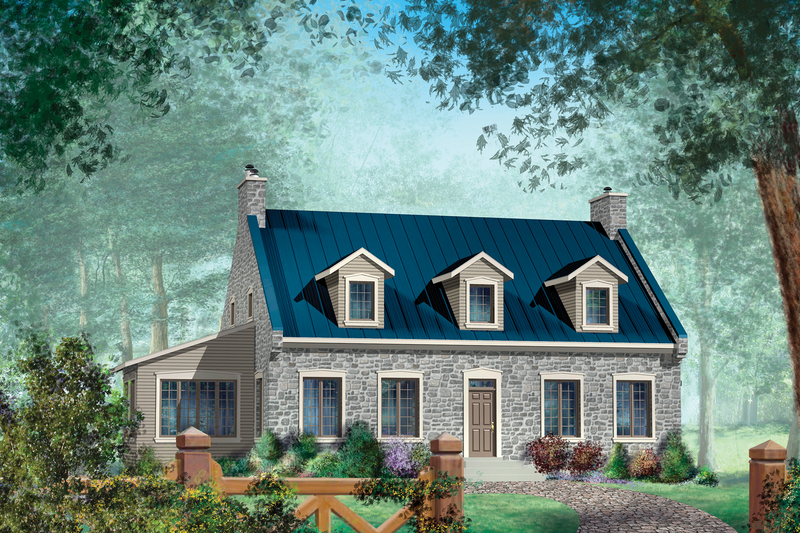 Country Style House Plan - 3 Beds 2 Baths 2976 Sq/Ft Plan #25-4683 Exterior - Front Elevation