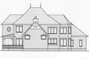 European Style House Plan - 4 Beds 3.5 Baths 3974 Sq/Ft Plan #413-819 Exterior - Rear Elevation