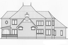 Home Plan - European Exterior - Rear Elevation Plan #413-819