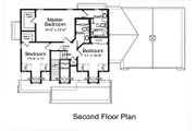 Country Style House Plan - 3 Beds 2.5 Baths 1808 Sq/Ft Plan #46-478 Floor Plan - Upper Floor Plan