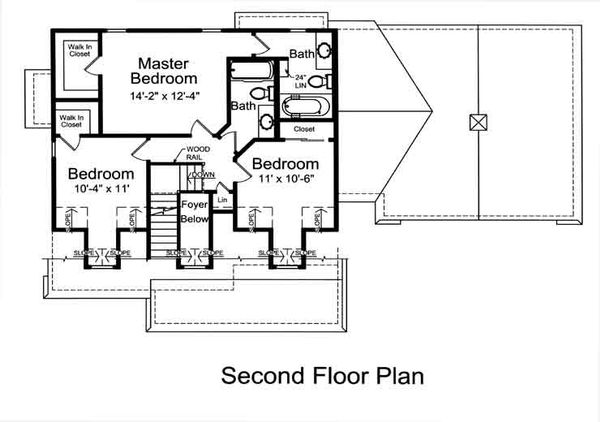 Country Floor Plan - Upper Floor Plan #46-478