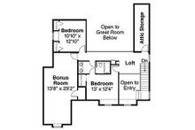 Farmhouse Floor Plan - Upper Floor Plan Plan #124-193