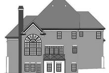 Colonial Exterior - Rear Elevation Plan #119-128