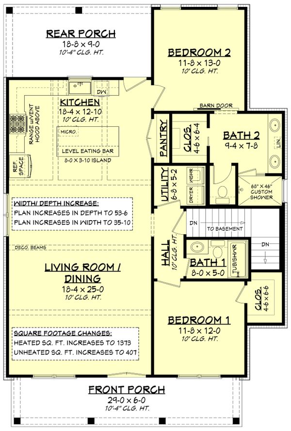 Farmhouse Floor Plan - Other Floor Plan Plan #430-227