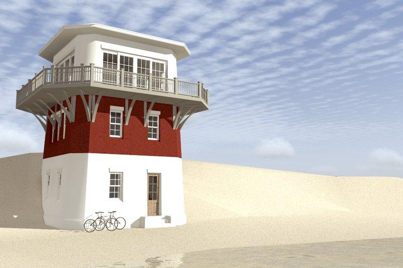 Beach Exterior - Other Elevation Plan #64-225 - Houseplans.com