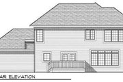 Traditional Style House Plan - 4 Beds 2.5 Baths 2100 Sq/Ft Plan #70-685 Exterior - Rear Elevation