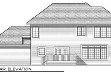 Dream House Plan - Traditional Exterior - Rear Elevation Plan #70-685