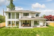 Contemporary Style House Plan - 4 Beds 2.5 Baths 3384 Sq/Ft Plan #1066-121 Exterior - Rear Elevation