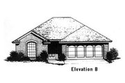 Traditional Style House Plan - 3 Beds 2 Baths 1224 Sq/Ft Plan #310-884 Exterior - Other Elevation