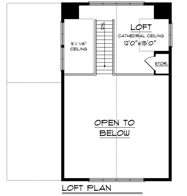 Cabin Floor Plan - Upper Floor Plan Plan #70-1476