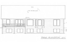 Mediterranean Exterior - Rear Elevation Plan #58-214