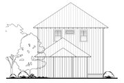 Beach Style House Plan - 4 Beds 4.5 Baths 2888 Sq/Ft Plan #430-120 Exterior - Rear Elevation