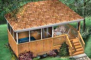 Cottage Exterior - Front Elevation Plan #25-4216