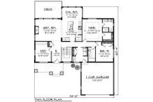 Ranch Floor Plan - Main Floor Plan Plan #70-1209