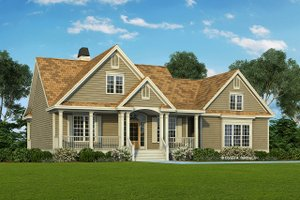 Country Exterior - Front Elevation Plan #929-577