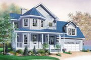 Victorian Style House Plan - 3 Beds 2.5 Baths 2175 Sq/Ft Plan #23-2058 Exterior - Front Elevation