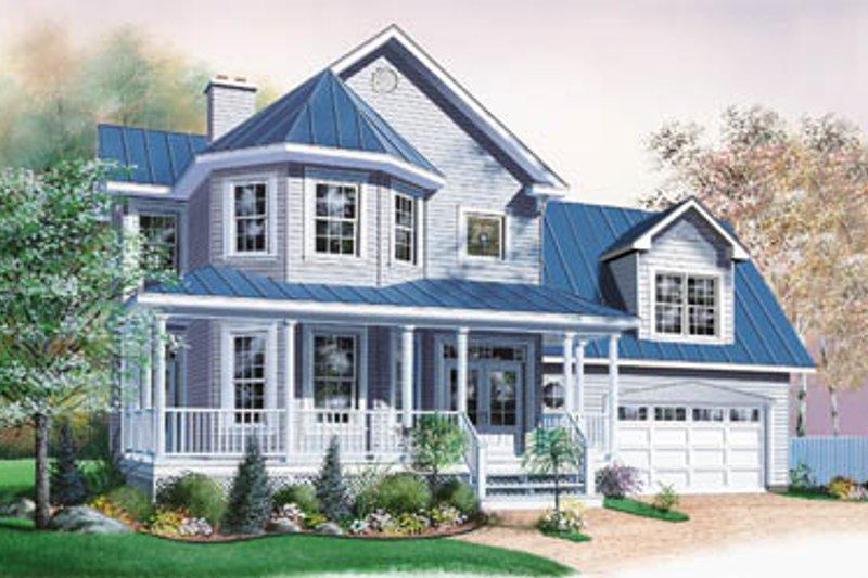 Architectural House Design - Victorian Exterior - Front Elevation Plan #23-2058