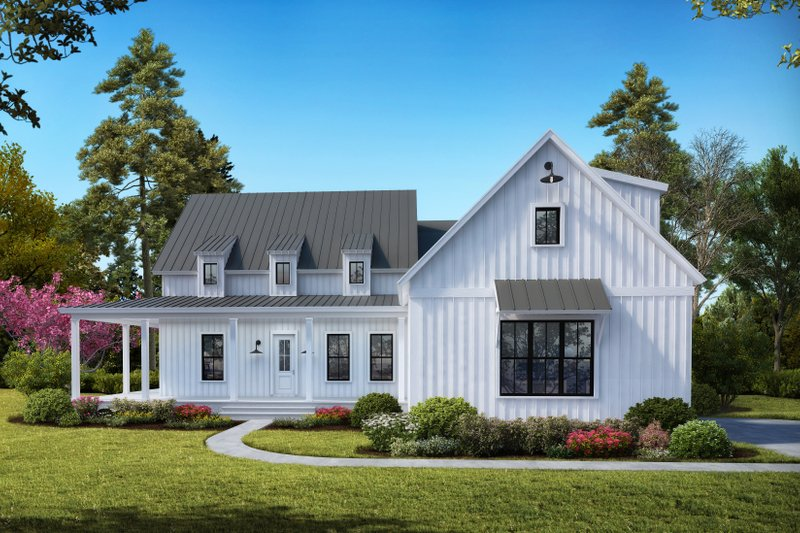 House Plan Design - Farmhouse Exterior - Front Elevation Plan #54-387
